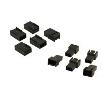 3 Pin Black Fan Connectors 5 Each Male And Female With Crimps